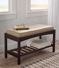 Mission Occasional Wooden Bench With Cushion